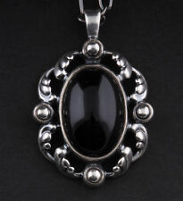 Georg Jensen Sterling Silver Pendant of The Year 2018 With Onyx. Heritage.