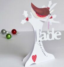 Personalised 3D Paper Cut Christmas Card for a Wife, Husband etc.