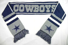 DALLAS COWBOYS NFL FOREVER COLLECTIBLES WINTER KNIT DOUBLE SIDED SCARF NWT!