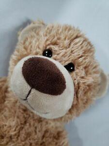 Build a Bear Workshop Shaggy Curly Brown Tan Plush Teddy Bear Stuffed 2012
