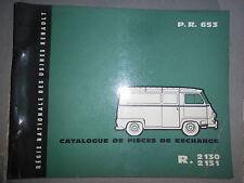 Renault ESTAFETTE 1959 : catalogue pièces d'origine PR653