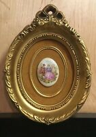 Vintage Decor Miniature B&S Creations New York Gold Frame With Miniature Cameo