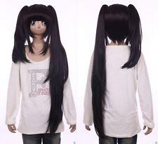 W-558 Date A Live Kurumi Tokisaki schwarz black 91cm Cosplay Perücke Wig Anime