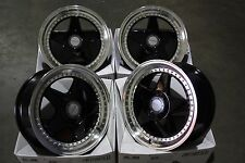 "17"" BLACK DARE DR-F5 ALLOY WHEELS FITS 4x100 AUDI CHEVROLET CITROEN DAIHATSU"