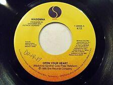Madonna Open Your Heart / White Heat 45 1984 Sire Vinyl Record