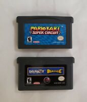 2 Games - Mario Kart Super Circuit + PaperBoy & Rampage - Gameboy Advance GBA