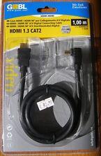 CAVO HDMI 1.3 G&BL HDMI90L10 N°6238 CON CONNETTORE A 90° DA UN LAT