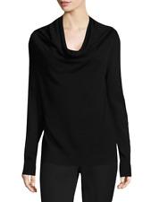 NWT XL Donna Karan New York Merino Wool Cowlneck Black Sweater $145