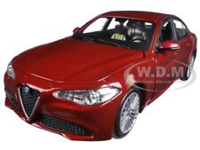 2016 ALFA ROMEO GIULIA BURGUNDY 1/24 DIECAST MODEL CAR BY BBURAGO 21080
