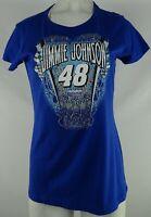 #48 Jimmie Johnson Nascar Women's Blue Short Sleeve T-Shirt