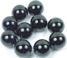 20mm AA+  Black ONYX Round Beads (10)