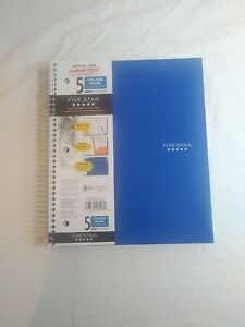 Five Star Wirebound Notebook, 5 Subject, 200 Sheets, College Ruled, 11in X 8.5in