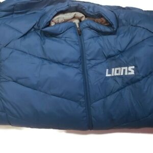 NFL Detroit Lions Mens 3 in 1 Systems Jacket Embroidered Logo Gray/Royal 4XL 6XL
