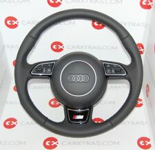 GENUINE AUDI A6 S6 A7 A1 S LINE PERFORATED COMPLETE STEERING WHEEL