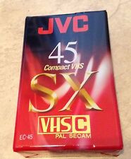 Jvc Ec45 Sx 45 Minute Camcorder Cassette Tape Vhs-C Format New factory sealed