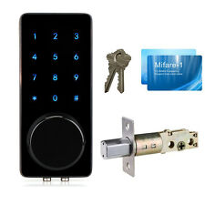 Smart Digital Electronic Touch Keypad Deadbolt Door Lock w/Miafare Card+Code/Key
