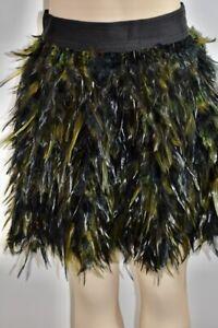 Alice & Olivia Feather Mini Skirt Size 4 On Sale