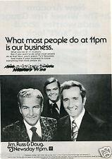 1973 Print Ad of WKYC Cleveland NBC News TV3 Jim Russ & Doug Newsday 11pm