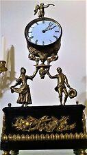 Antique French Portico Stile Figural Mantel Clock