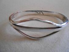Sterling Silver Taxco Modernist Bangle Side Open Bracelet   307035