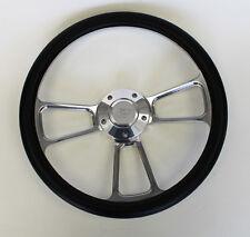 """14"""" Bronco Econoline F100 F150 F250 F350 Truck Black Steering Wheel Ford Center"""