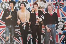 "Sex Pistols ""Group By Union Jack Background"" Poster From Asia - Punk Rock Music"