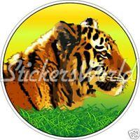 "ROI TIGRE Chat Sauvage King Tiger 4,7"" (120mm) Vinyle Sticker Autocollant"