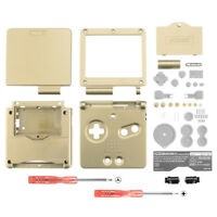 Solid Gold Housing Shell Buttons Replace for Nintendo Game Boy Advance SP GBA SP