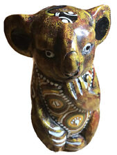 More details for vintage aboriginal boomiri wooden handmade traditional koala. signed. used.
