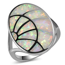white Fire Opal Ring Silver Gold Filled Engagement Wedding Ring Size 7 A165