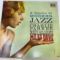 A Handful of Modern Jazz Charlie Parker Dizzy Gillespie Miles Davis Vinyl B-105