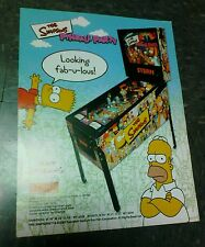 Stern THE SIMPSONS PINBALL PARTY flyer- good original