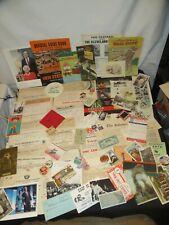 Old Paper Ephemera Advertising Tobacco Railroad Postcards Receipts & More Y823