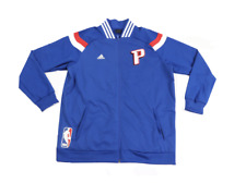 New Adidas NBA Authentics Detroit Pistons Team Issued On Court Jacket Large Blue