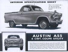 Austin A55 8cwt Coupe Utility Single Sheet Flyer (Australian Model) PHOTOC0PY