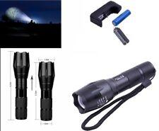 Torcia LED tattica militare batteria ricaricabile luce flash intermittenza pile