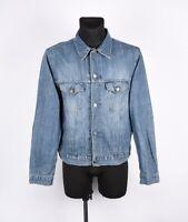Tommy Hilfiger Vintage Jeansstoff Latzhose Herren Jacke Größe L