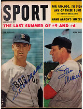 TED WILLIAMS & STAN MUSIAL SIGNED AUTOGRAPHED 1959 SPORT MAGAZINE September