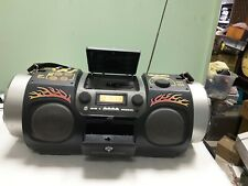 JVC RV-DP100 AM FM CD Cassette Player Boombox Aux Input Rhythm Drum Pads READ!