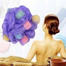 Bath Sponge Mesh Ball Scrunchie Body Wash Scourer Puff Shower Brush ruguV  New
