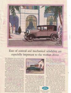 1929 Ford Model A Fordor Sedan  and coupe Original ad  -  Rare