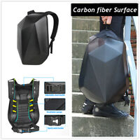 Carbon Fiber Motorsports Track Riding Back Pack Hard Shell Shoulder Helmet Bag