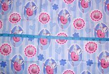 Angelina Ballerina & Friends Stripe Allover Cotton Fabric 1/2Yd L