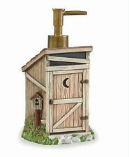 Outhouse Resin Soap Lotion Dispenser Country Rustic Bath Decor