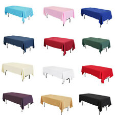 "58""x102"" / 58""x126"" Lamour Satin Rectangular Seamless Tablecloth For Party"