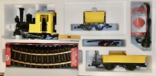Startset Gartenbahn Baustellenzug gelb Lok Wagen Gleis LGB 70503 OVP NEU  µ
