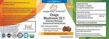 Chaga Mushroom 10:1 Extract Capsules, 30% Polysaccharides, NO Fillers