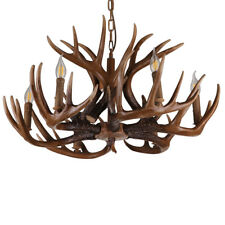 AS Creative Wood Chandelier Pendant Light Antlers Design Home Decor Ceiling Lamp