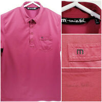 Travis Mathew Mens Large Golf Shirt Polo Red