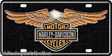 Licensed Harley Davidson Eagle Metal Vanity Car License Plate Auto Tag
